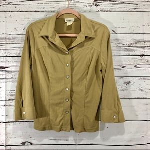 Wrapper Brand Blouse Pearl Buttons